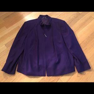 Talbots Purple Wool Suit, Size 20W